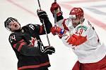 Mistrovství světa hokejistů do 20 let, finále: Rusko - Kanada, 5. ledna 2020 v Ostravě. Na snímku (zleva) Ty Smith a Yegor Sokolov.