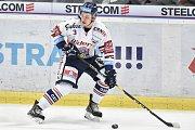 Utkání 32. kola hokejové extraligy: HC Vítkovice Ridera - PSG Berani Zlín, 4. ledna 2019 v Ostravě. Na snímku Daniel Krenželok.