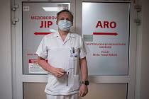 Primář ARO oddělení ve Vítkovické nemocnici Tomáš Málek, 16. června 2020.