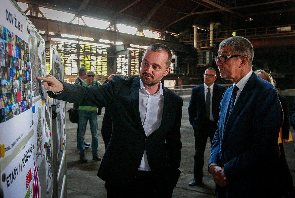 Návštěva Vlády ČR v Moravskoslezském kraji 24. dubna 2018. Prohlídka Dolních Vítkovic v Ostravě.