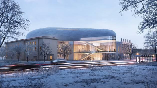 Vizualizace koncertní haly pro Ostravu.