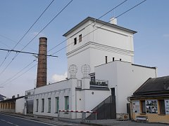Věžový vodojem v železniční stanici Opava východ.