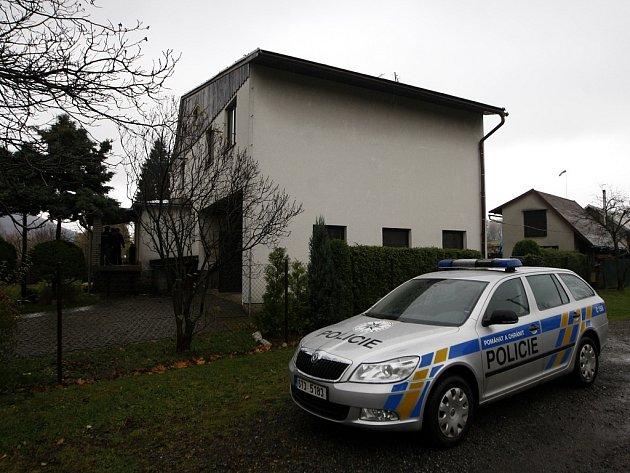 Dům v Raškovicích, kde byla dvojnásobná vražda spáchána.