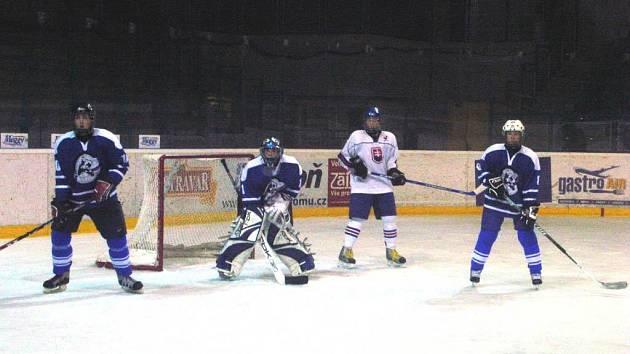 Mužstvo severní Moravy (v modrém) v loňském ročníku turnaje