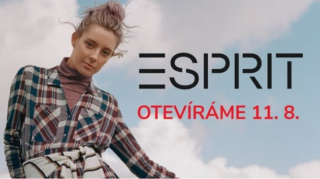 Značku Esprit již brzy uvítá iOutlet Arena Moravia vOstravě