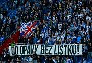 První jarní ligový zápas mezi Baníkem a Ústím nad Labem. Fanoušci Baníku