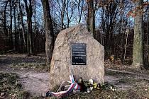 Pomník letce havarovaného MiGu Františka Doležala.