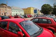 Parkování v centru Ostravy. Parkoviště naproti Domu kultury města Ostravy.