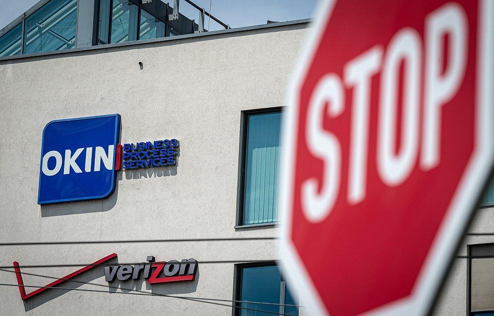 Budova Nordica kde sídlí IT firmy Verizon Communications a Okin BPS v Ostravě.