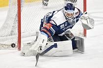 Utkání 10. kola hokejové extraligy: HC Vítkovice Ridera - PSG Berani Zlín, 9. února 2021 v Ostravě. Brankář Miroslav Svoboda z Vítkovic.