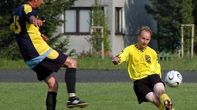 Ze zápasu fotbalistů Polanky a Radvanic