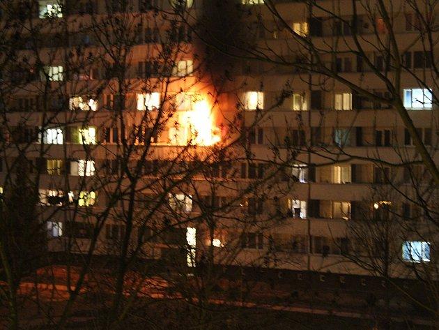 Požár v Ostravě-Porubě