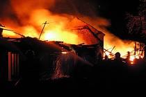 V Kunčicích pod Radhoštěm hořel dřevěný domek