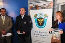 Snímek z policejní tiskové konference.