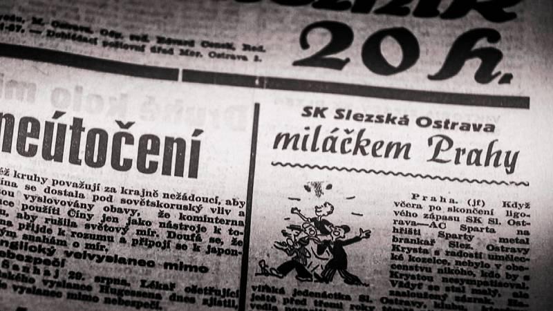 Snímek z dokumentu Baník!!! ostravského studia České televize.