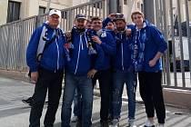 Fanoušci Baníku na Maltě.