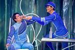 Veřejná generální zkouška představení Coppélia v divadle Jiřího Myrona, 18. září 2020 v Ostravě. (Zleva) Koki Nishioka – Franz a Takafumi Tamagawa – Coppélius.