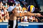 Finále muži: ČR - Norsko. FIVB Světové série v plážovém volejbalu J&T Banka Ostrava Beach Open, 2. června 2019 v Ostravě. Na snímku Christian Sandlie Sørum (NOR).