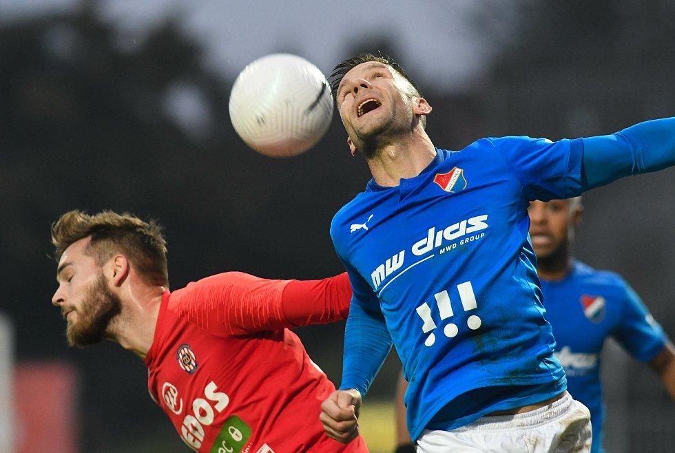 Martin Fillo z Ostravy - 14. kolo FORTUNA:LIGA, FC Zbrojovka Brno - FC Baník Ostrava, 23. prosince 2020 v Brně.