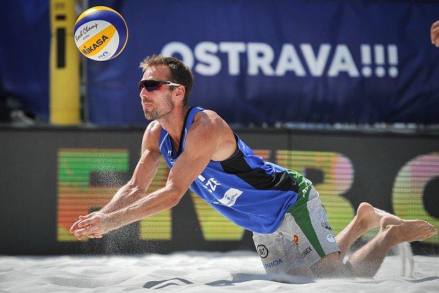 Turnaj Světové série Ostrava Beach Open, 21.června 2018, na snímku Jan Dumek.