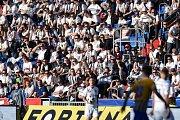 Utkání 29. kola první fotbalové ligy: FC Baník Ostrava - Slezský fotbalový klub Opava, 21. dubna 2019 v Ostravě. Na snímku fanoušci.