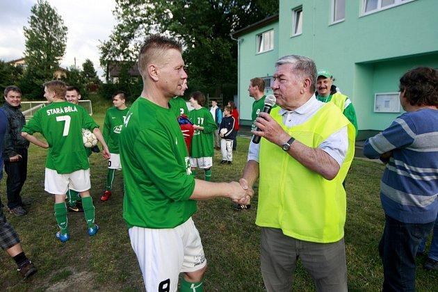 Útočník Vlastimil Stařičný se loučil s fotbalem.