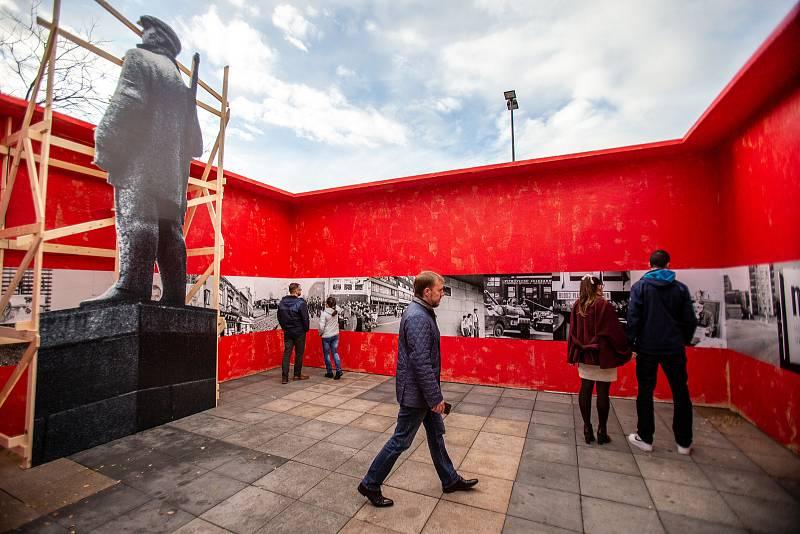 Víkend v Ostravě se nese ve znamení oslav 30. výročí sametové revoluce. Na snímku Masarykovo náměstí, sobota 16. listopadu 2019.