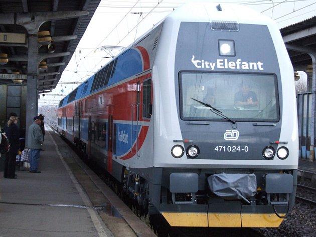 Osobní vlak CityElefant. Ilustrační foto