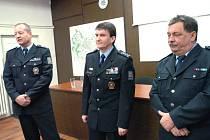 Zleva Jaroslav Skříčil, Oldřich Martinů a Radim Pražák