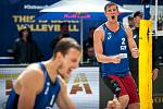 Turnaj Světového okruhu v plážovém volejbalu - semifinále, 24. června 2018 v Ostravě. Na snímku David Schweiner a Onřej Perusic.