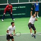 Utkání kvalifikace tenisového Davisova poháru - čtyřhra: Česká Republika - Nizozemsko, 2. února 2019 v Ostravě. Na snímku (vpravo) Julien Rojer a Robin Haase.
