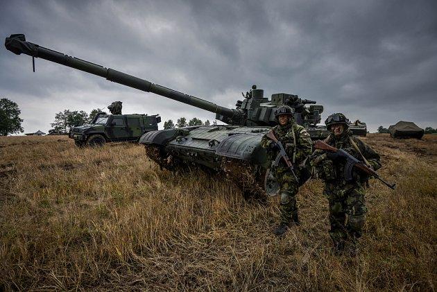 Příprava a nácvik vojenské akce Darkovičkách, pátek 18.květen 2018