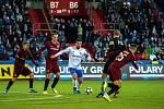 Utkání 20. kola první fotbalové ligy: Baník Ostrava - Sparta Praha, 14. prosince 2019 v Ostravě. Na snímku zleva David Lischka, Milan Baroš a Michal Trávník.