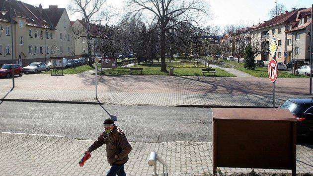 Ostrava-Hrabová, předměstí vesnického charakteru iprůmyslová zóna, březen 2020.