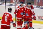Utkání 1. kola hokejové extraligy: HC Vítkovice Ridera - HC Olomouc, 13. září 2019 v Ostravě. Na snímku (zleva) Lukáš Nahodil, Rostislav Olesz.