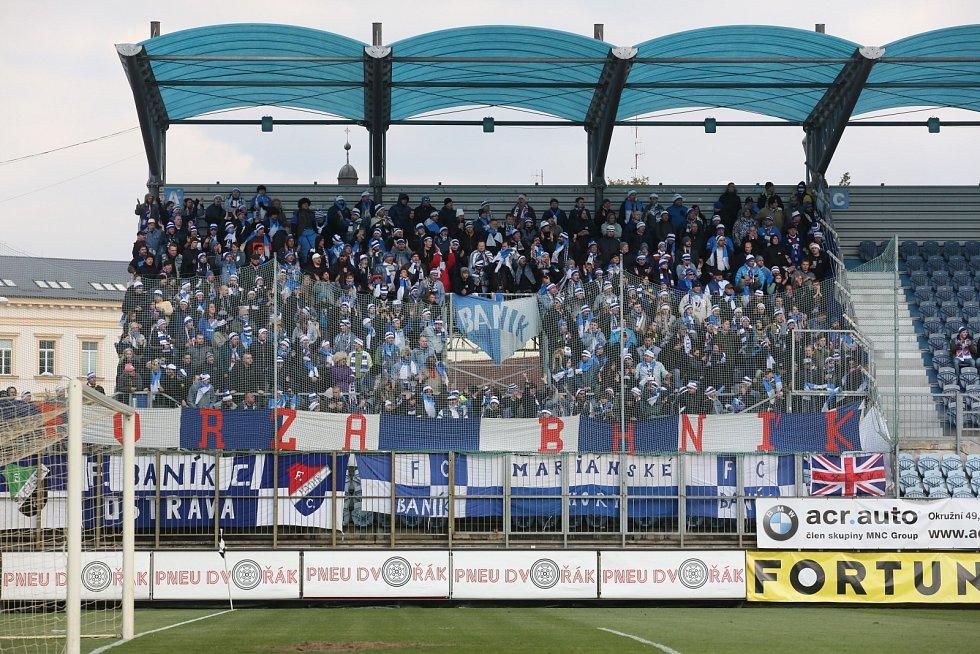 Tři stovky fanoušků Baníku Ostrava vážilo ve čtvrtek cestu do Českých Budějovic k utkání 23. kola druhé ligy.