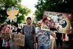 Demonstrace za nezávislou justici a proti vládě 11. června na Masarykově náměstí v Ostravě.