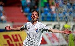 FC Baník Ostrava - 1.SC Znojmo. Radost, gól, Martin Sus