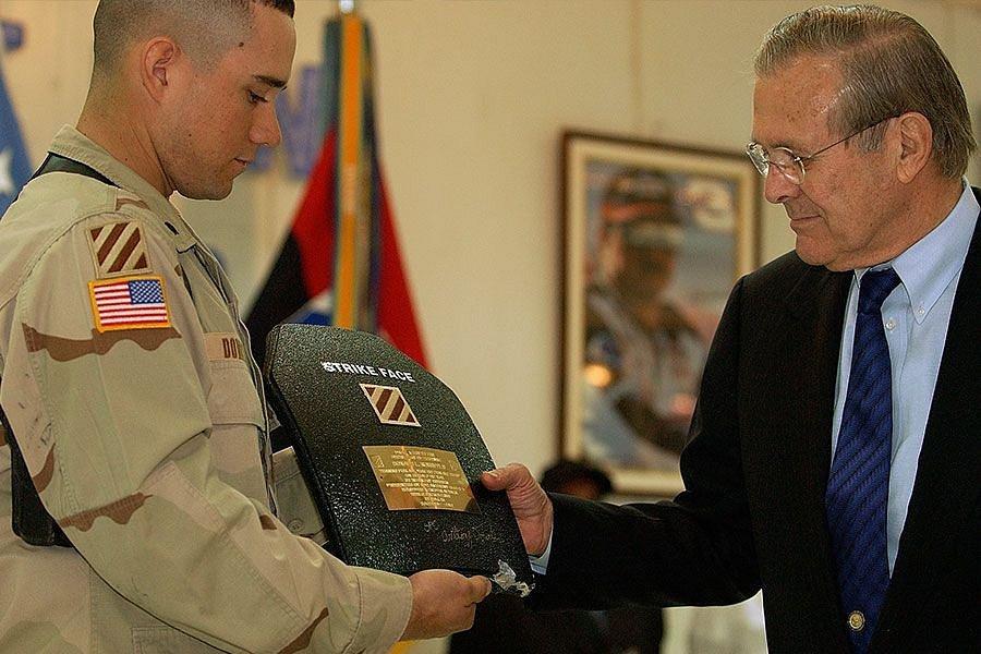 Donald Rumsfeld, bývalý ministr obrany USA.