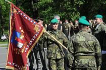 Pondělní ceremoniál u Památníku Rudé armády v Komenského sadech, kde se konal pietní akt k připomenutí 67. výročí osvobození Ostravy, které vyvrcholilo 30. dubna 1945.