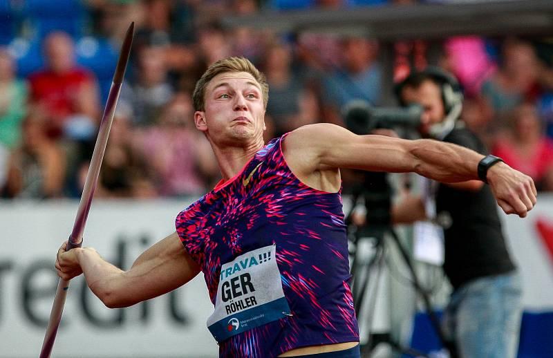 56. ročník atletického mítinku Zlatá tretra, který se konal 28. června 2017 v Ostravě. Na snímku Röhler Thomas.