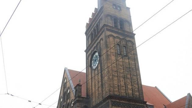 Evangelický Kristův kostel na Českobratrské ulici v centru Ostravy.