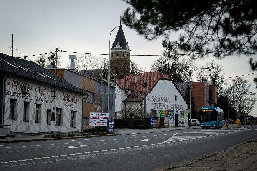 Slezská Ostrava, 25. března 2020. Městská část Radvanice.