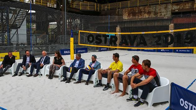 38c8cc92c Tisková konference FIVB Světové série v plážovém volejbale J&T Banka  Ostrava Beach Open, ...
