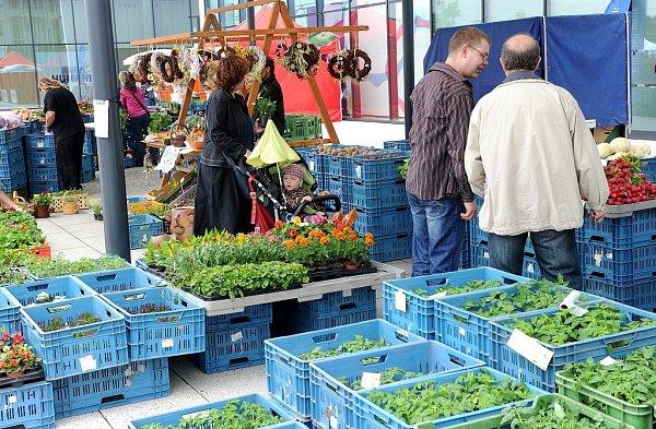 Výrobky od regionálních producentů byly vsobotu 18.května dopoledne kdostání uobchodního a zábavního centra Forum Nová Karolina, kde se poprvé konaly farmářské trhy.