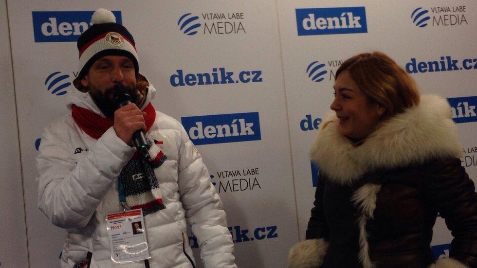Primátor Ostravy Tomáš Macura v Zóně Deníku v Ostravar Aréně, 18. února 2018, Olympijský festival v Ostravě.