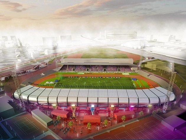 Vizualizace. Městský stadion ve Vítkovicích.