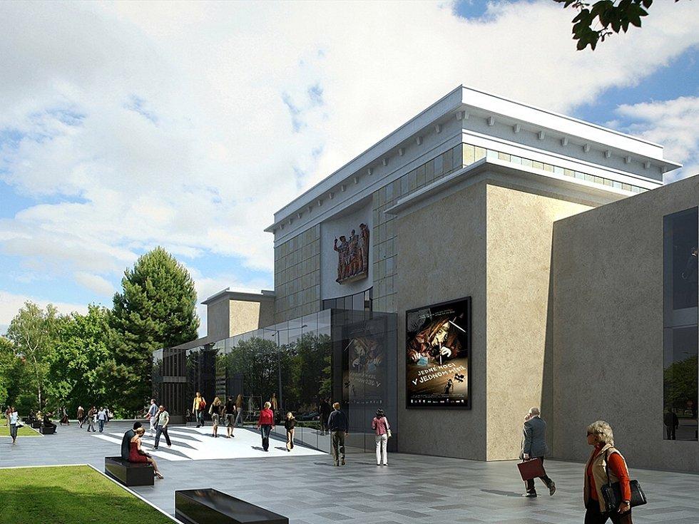 Vizualizace nové podoby kulturního domu Poklad z roku 2013.