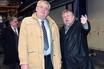 Miloš Zeman navštívil během svého ostravského pobytu provozy Vítkovice Holdingu