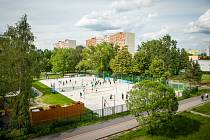Nová beachvolejbalová hřiště v Hrabůvce.